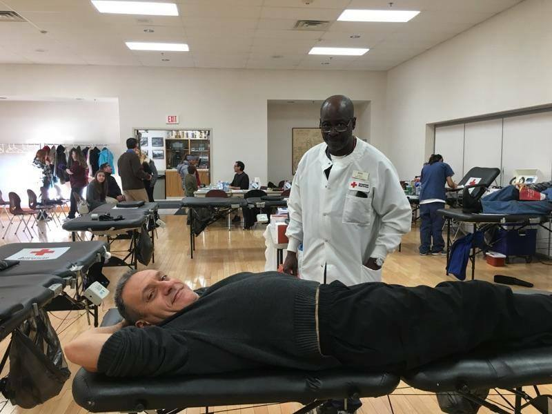 dr. vella at blood drive