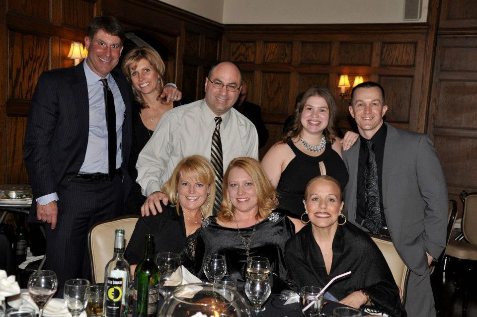 team at dinner