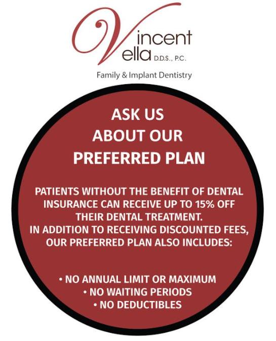 Preferred Plan Benefits - Vincent Vella, DDS